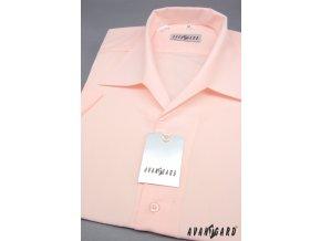 Pánská světle růžová košile rozhalenka 456-9