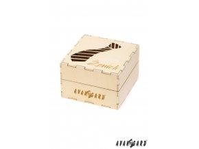 Dřevěná dárková krabička - Ženich