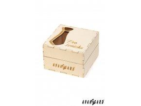 Dřevěná dárková krabička - Pro ženicha