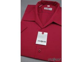Pánská košile s rozhalenkou, kr.rukáv 456-13 V13-bordó (Barva V13-bordó, Velikost 41/182, Materiál 55% bavlna a 45% polyester)