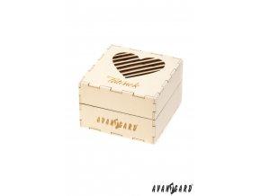 Dřevěná dárková krabička se srdíčkem - Tatínek
