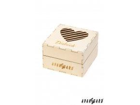Dřevěná dárková krabička se srdíčkem - Dědeček