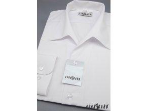 Pánská bílá košile rozhalenka 457-1
