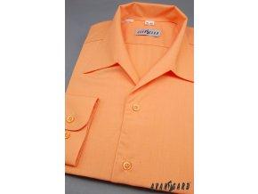 Pánská oranžová košile rozhalenka 457-10