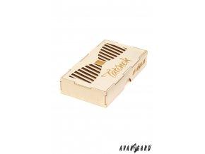 Dřevěná krabička na motýlka - Tatínek