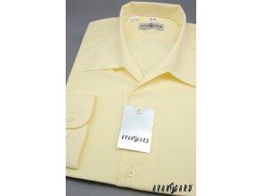 Pánská žlutá košile rozhalenka 457-5