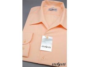 Pánská lososová košile rozhalenka 457-4