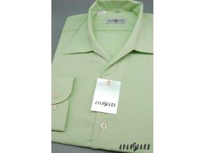 Pánská zelená košile rozhalenka 457-8
