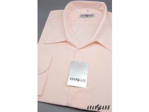 Pánská světle růžová košile rozhalenka 457-9