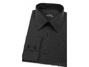 Černá pánská SLIM FIT košile , dl. rukáv, 115-2301 2301