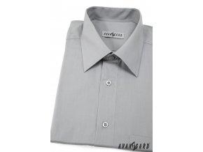 Pánská šedá košile KLASIK 351-21