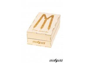 Dřevěná zdobená dárková krabička na šle - Pro ženicha