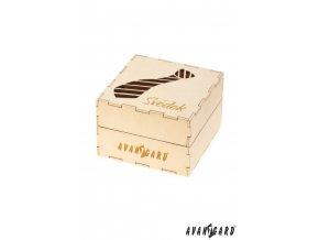 Dřevěná dárková krabička - Svědek