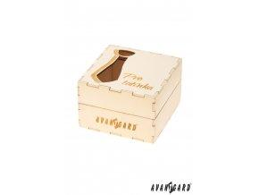 Dřevěná dárková krabička s věnováním - Pro tatínka