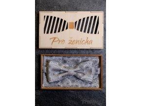 Dřevěná krabička na motýlka - Pro ženicha