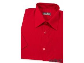 Pánská košile KLASIK s kr.ruk. 351-12 V12-červená (Barva V12-červená, Velikost 44/182, Materiál 55% bavlna a 45% polyester)
