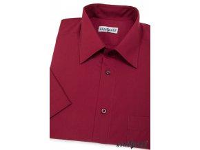 Pánská bordó košile KLASIK 351-13