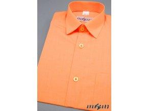 Chlapecká košile KLASIK 468-10 V10-pomerančová (Barva V10-pomerančová, Velikost 116, Materiál 55% bavlna a 45% polyester)