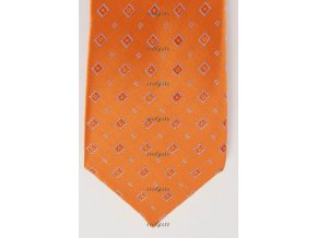 Kravata AVANTGARD 559-71014 Oranžová (Barva Oranžová, Velikost šířka 10 cm, Materiál 100% polyester)