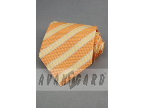 Kravata AVANTGARD 559-71015 Oranžová (Barva Oranžová, Velikost šířka 10 cm, Materiál 100% polyester)