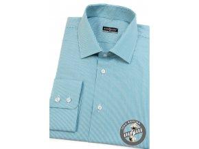 Světle tyrkysová pánská SLIM FIT košile, dl. rukáv, 109-0742