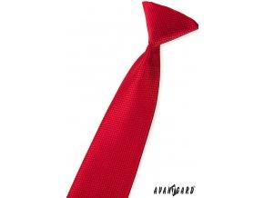 Červená dětská kravata s hadí strukturou