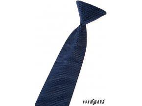 Modrá dětská kravata s hadí strukturou