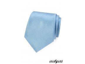 Světle modrá mřížkovaná kravata