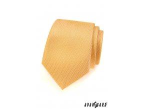 Banánově žlutá kravata s jemným vroubkovaným vzorkem