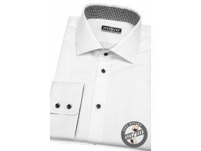 Bílá pánská bavlněná košile, dl. rukáv, 509-0129