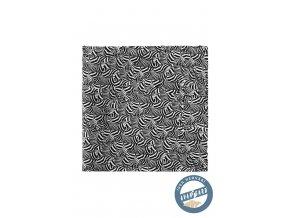 Černobílý hedvábný kapesníček