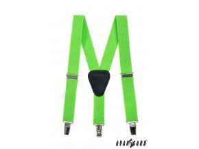 Zářivě zelené dětské šle na klipy