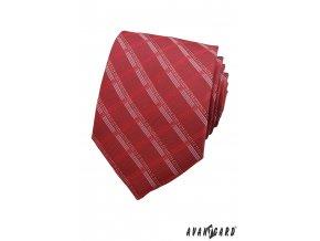Kravata AVANTGARD 559-1172 Bordó (Barva Bordó, Velikost šířka 8 cm, Materiál 100% polyester)