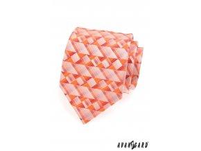 Oranžová kravata s mozaikou