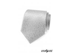 Stříbrná kravata se zajímavým vzorem