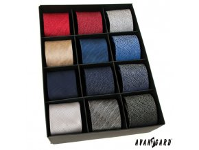 Luxusní žíhané kravaty - sada 12 ks
