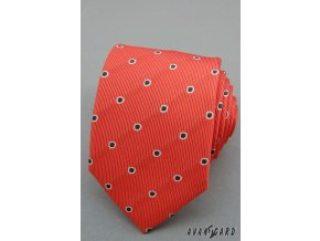Kravata AVANTGARD 559-1302 Korálová (Barva Korálová, Velikost šířka 7 cm, Materiál 100% polyester)