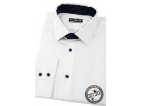 Bílá pánská klasická košile, dl.rukáv, 509-9131