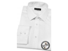 Bílá pánská klasická košile, dl.rukáv, 509-91
