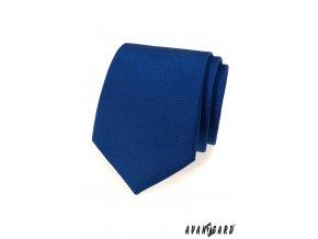 Modrá kobaltová matná kravata