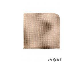 Béžový kapesníček s trojrozměrným vzorem