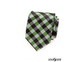 Kravata AVANTGARD 559-1398 Zelená (Barva Zelená, Velikost šířka 7 cm, Materiál 100% polyester)