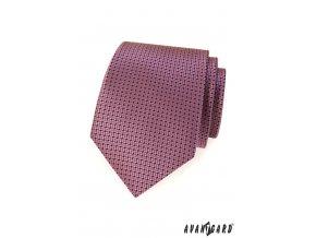 Tmavě starorůžová kravata s jemným vzorem