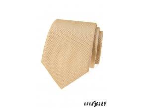 Béžová kravata s velmi jemným vzorkem