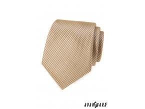 Béžová kravata s nenápadným vzorkem