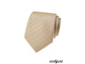 Béžová kravata s jemným tečkovaným vzorem