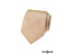Béžová kravata s jemným vzorkem