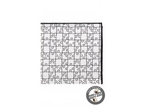 Bílý kapesníček se vzorem - puzzle