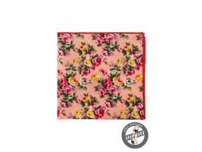 Pudrový kapesníček s růžemi