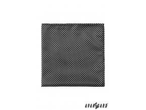 Černý kapesníček s malými bílými puntíky
